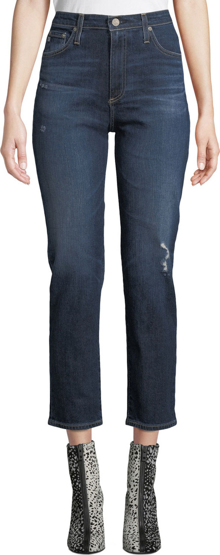 AG Jeans Isabelle High-Rise Straight Cropped Jeans