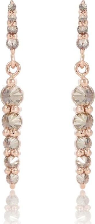 Anna Sheffield Double Pointe 14kt rose gold earrings with diamonds