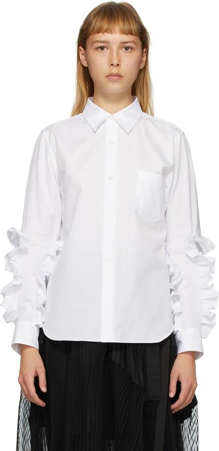 Comme Des Garçons Comme Des Garçons White Broad Ruffle Arm shirt