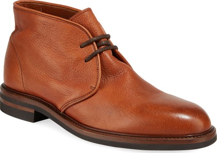 Brunello Cucinelli Men's Leather Chukka Boots