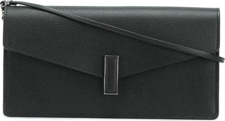 Valextra flap closure clutch bag