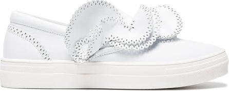 Sophia Webster White Soleil Adele ruffle leather sneakers
