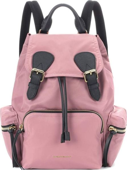Burberry London England The Rucksack Small leather-trimmed backpack