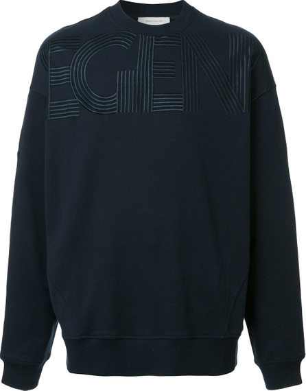 Cedric Charlier Embroidered detail sweatshirt