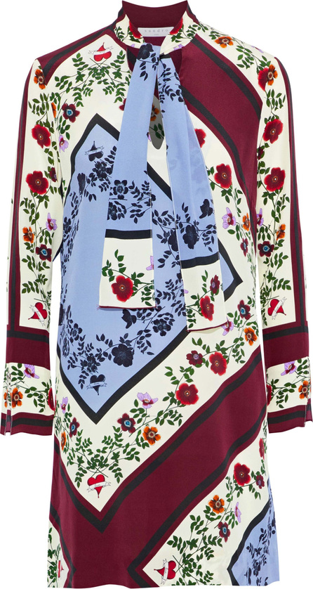 Sandro Saffy floral-print silk-crepe mini dress