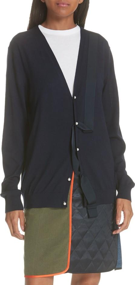 Harvey Faircloth Ribbon Detail Wool Cardigan