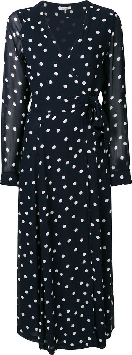 Ganni Polka dot tie dress