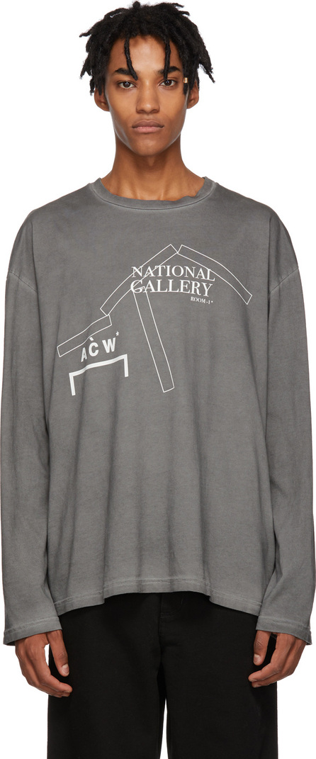 A-Cold-Wall* Grey 'National Gallery' Long Sleeve T-Shirt