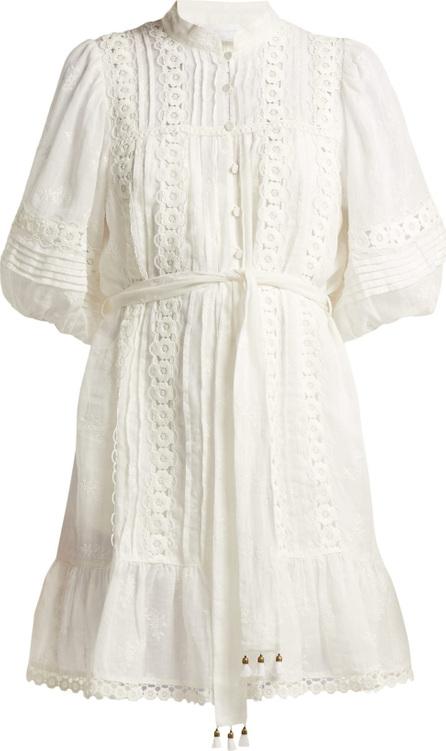 Zimmermann Castile Flower lace-trimmed voile dress