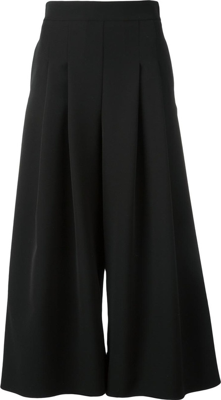 Blumarine pleated wide-legged cropped trousers