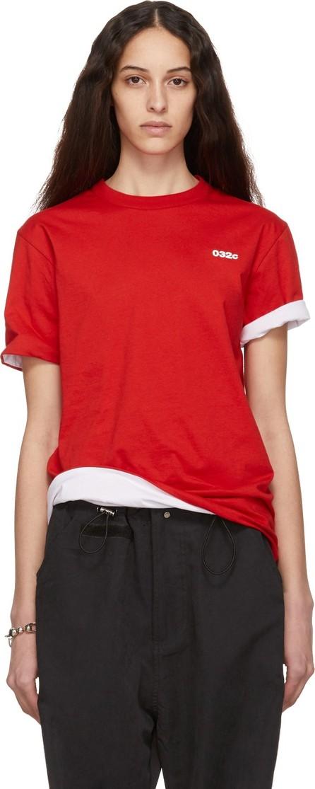 032c Reversible Red & White Cosmic Workshop Logo T-Shirt