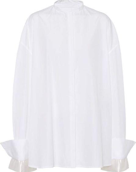 Haider Ackermann Satin-trimmed cotton shirt
