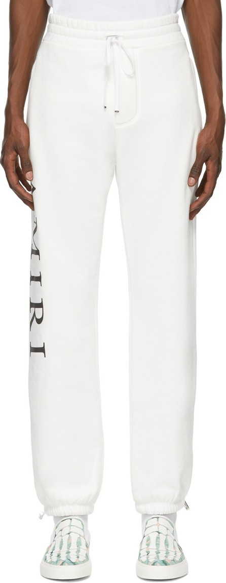 Amiri White Large Logo Lounge Pants