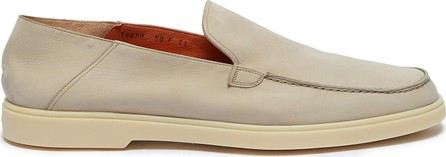 Santoni Nubuck leather step-in loafers