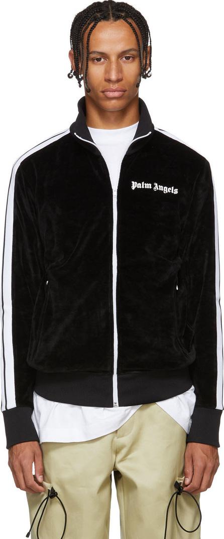 Palm Angels Black Velour Track Jacket