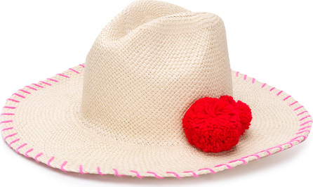 Sensi Studio Pompom embellished hat