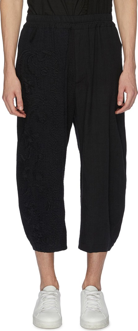 By Walid 'Rhydian' floral embroidered jogging pants