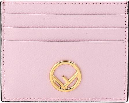 Fendi F Logo Calf Leather Card Case