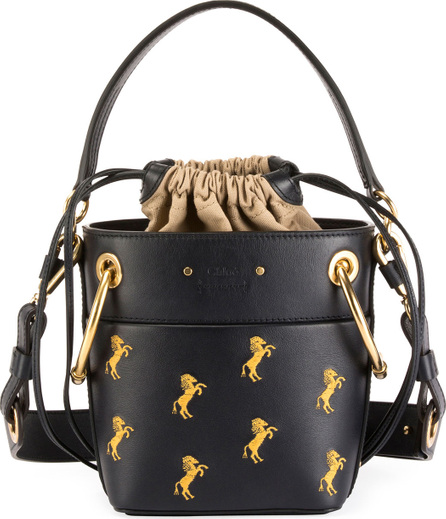 Chloe Roy Mini Horses Bucket Bag