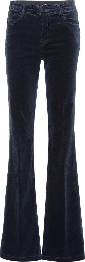 J BRAND - Maria velvet flare trousers