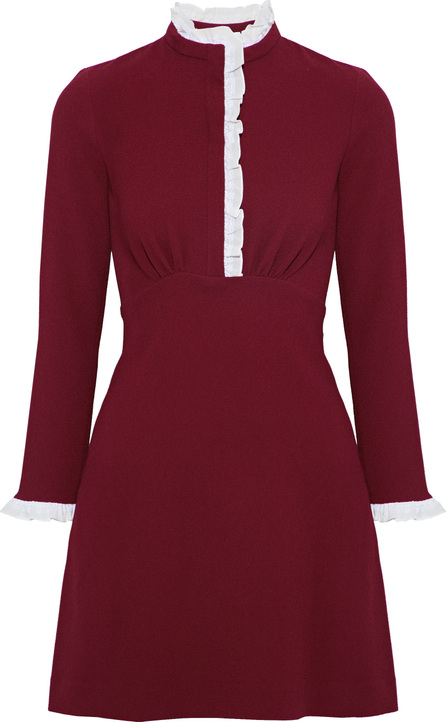 Sandro Natalia ruffle-trimmed crepe mini dress