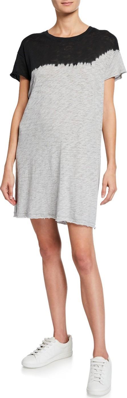 ATM Anthony Thomas Melillo Dip-Dye Short-Sleeve Slub Jersey Cotton Dress