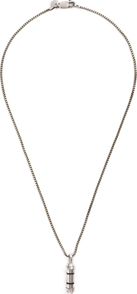 Tateossian 'Lucky Me' rhodium-plated silver pendant necklace