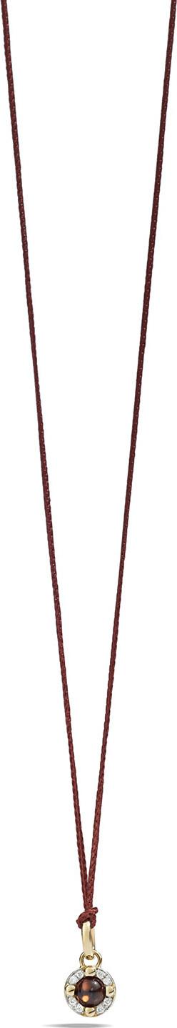 Pomellato M'ama Non M'ama Pendant Necklace in Rose Gold with Garnet & Diamonds