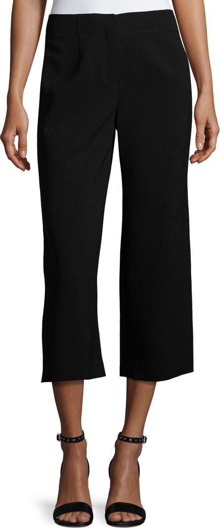 Lafayette 148 New York Finesse Crepe Cropped Pants, Black