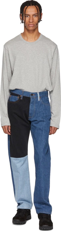 Gosha Rubchinskiy Navy Levi's Edition 501 Patchwork Jeans