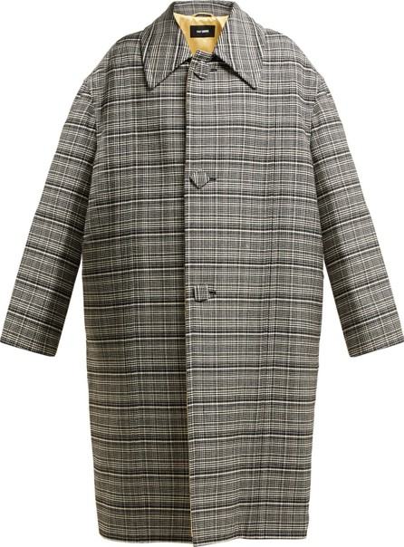 Raf Simons Single-breasted checked coat