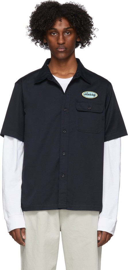 Stussy Navy Side Taped Garage T-Shirt