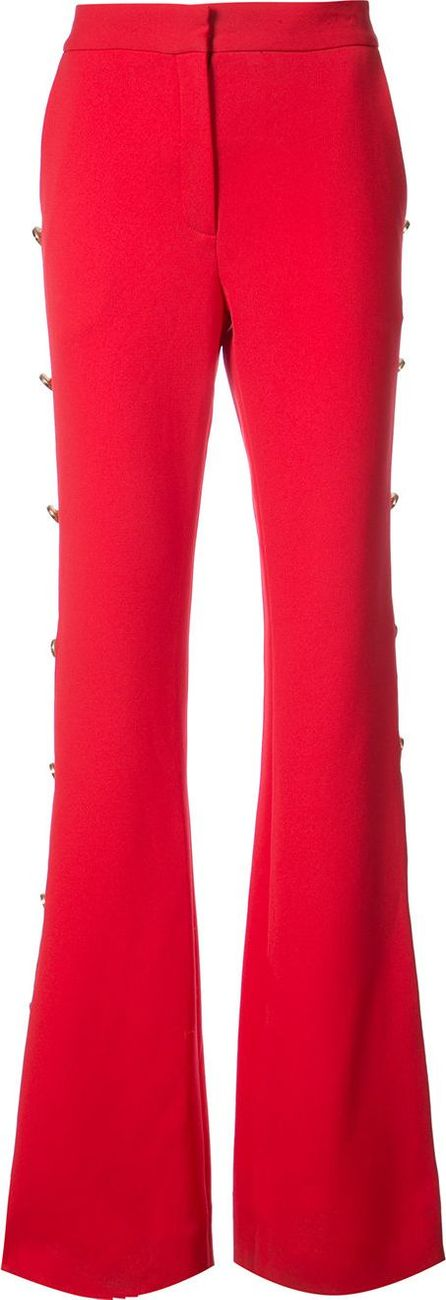 Prabal Gurung button embellished bootcut trousers