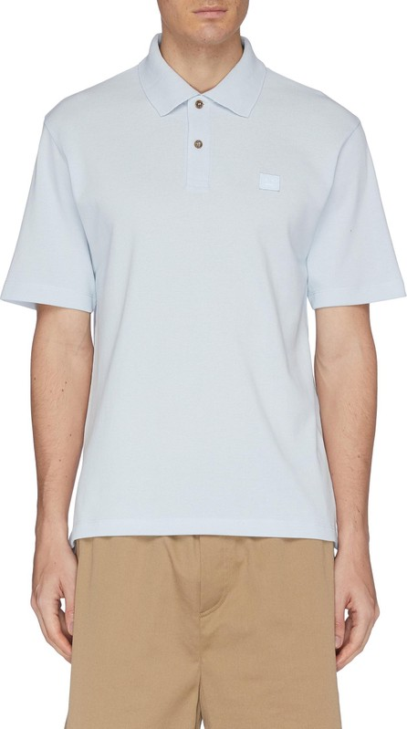 Acne Studios Face patch polo shirt