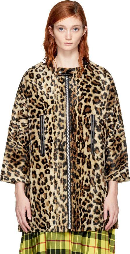 Junya Watanabe Beige & Brown Leopard Coat