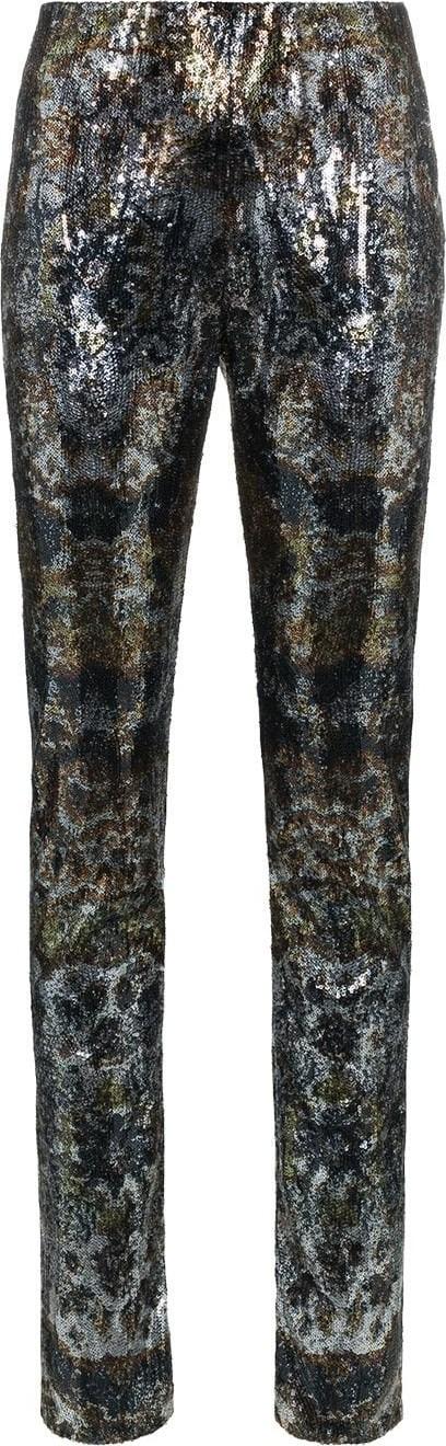 Mary Katrantzou Sequinned straight leg trousers