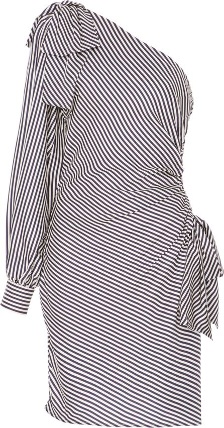 Zimmermann Striped One-Shoulder Ruched Dress