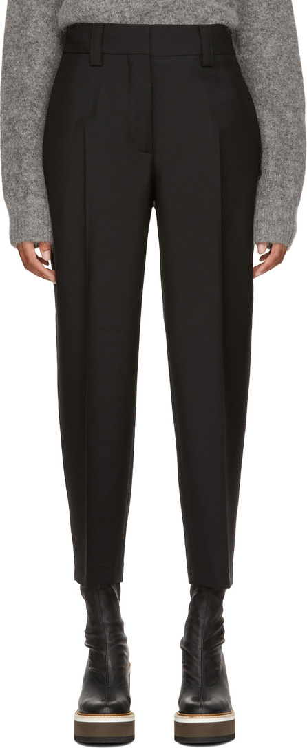 Acne Studios Black Tapered Trousers