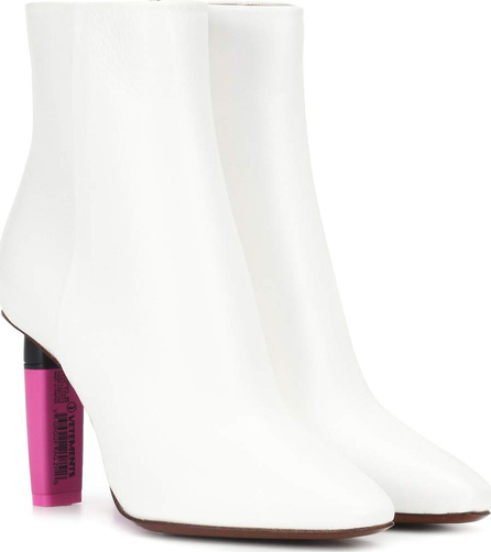 Vetements Highlighter-heel leather ankle boots
