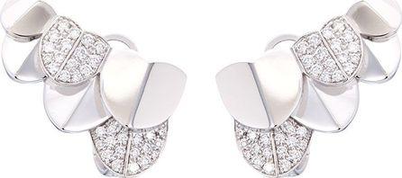 Fred 'Une Ile d'Or diamond 18k white gold earrings