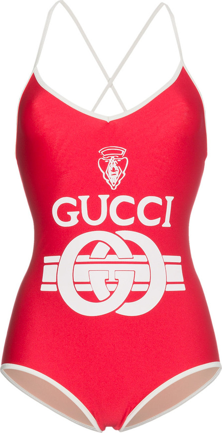 Gucci Interlocking logo print swimsuit