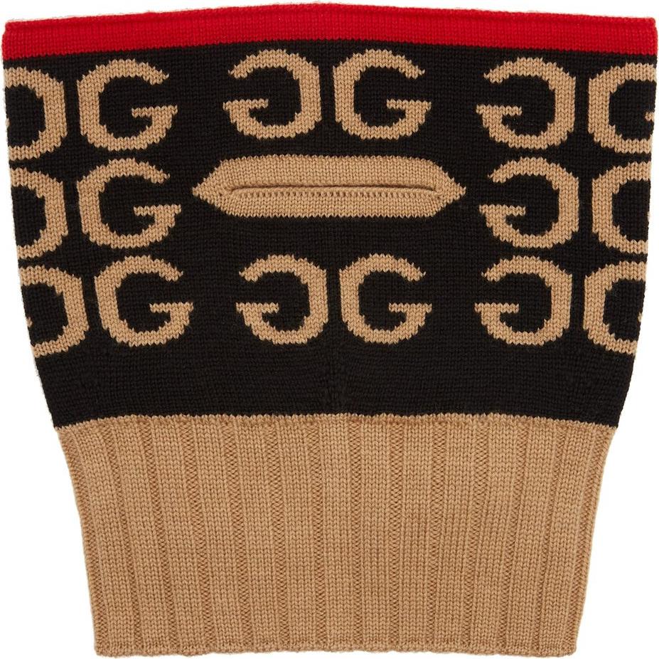 Gucci GG-intarsia wool balaclava