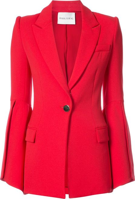 Prabal Gurung bell sleeve fitted jacket