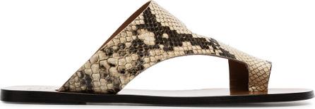ATP Atelier Roma snake print leather sandals