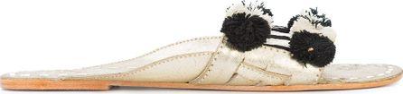 FIGUE Noona pompom detail sandals