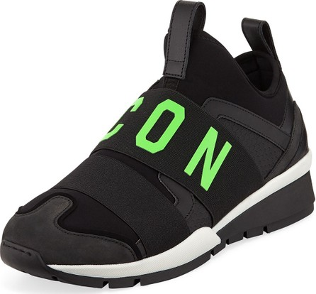 DSQUARED2 Men's Icon Neoprene & Leather Trainer Sneakers