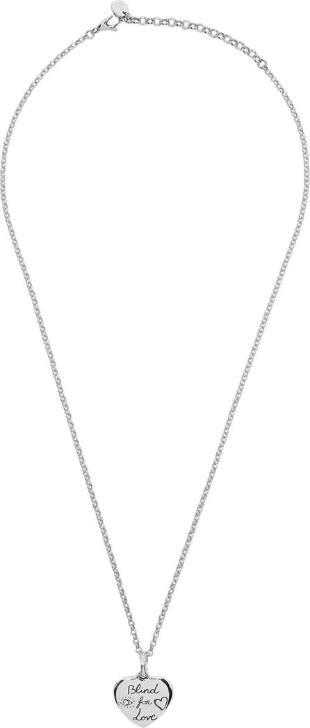 Gucci Silver 'Blind For Love' Necklace
