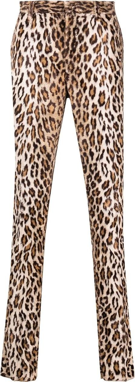 Versace Leopard-print straight-leg trousers