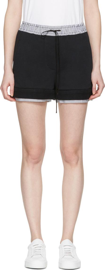 3.1 Phillip Lim Black Poplin-Trimmed Shorts