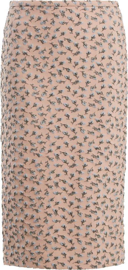 ROCHAS Roses-brocade skirt